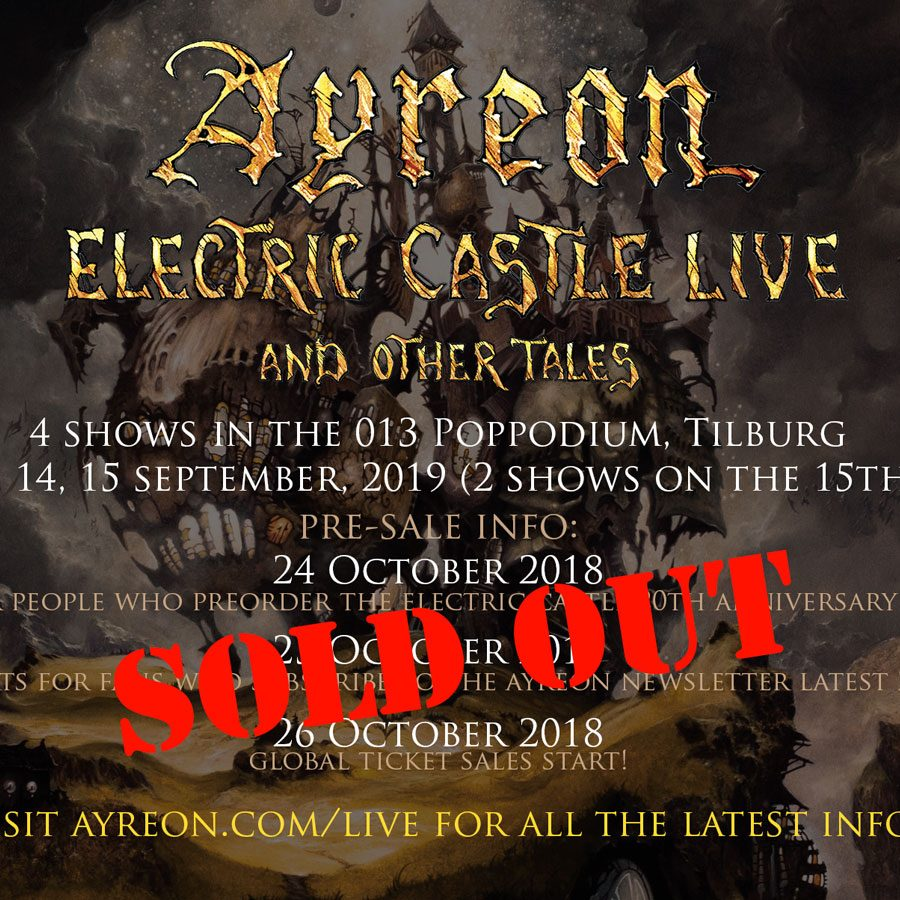 "AYREON ""ELECTRIC CASTLE LIVE AN OTHER TALES…"""